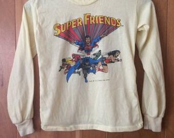 1975 Super Friends D.C. Comics shirt original Youth size Small 70s