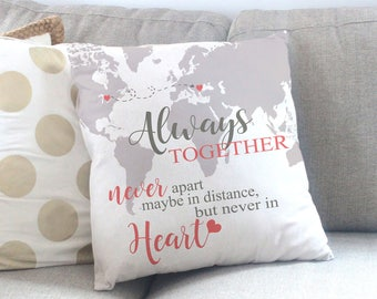 Going Away Gift - Moving Gift for Friend - Long Distance Friend Quote - Housewarming Gift Idea - Personalized Throw Pillow - Accent Pillow