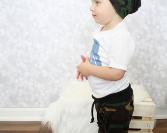 ON SALE - Camo Baby Pants - Baby Drawstring Pants - Baby Boy Pants - Camouflage Pants - Baby Boy Outfit - Baby Boy Clothes