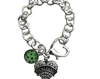 "Pickleball ""Open Heart"" Bracelet - Custom Designed"