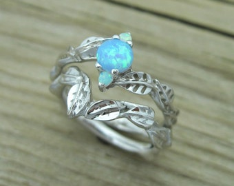 Opal wedding ring set Etsy