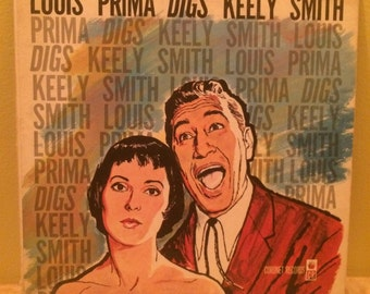 Louis Prima Vinyl Record Album - Louis Prima Digs Keely Smith