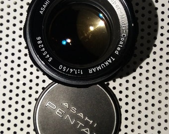 Asahi Pentax Super-Multi-Coated Takumar 50mm f1.4 Prime M42 Mount Lens