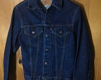 Levis Big E Vintage Denim Jean Jacket Size 36 Small