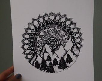 8x10 Mountain Mandala