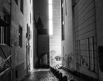 Luxembourg Night Street Scene Photograph