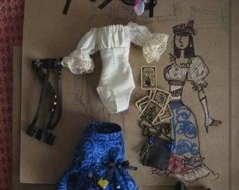 Hand-made steampunk outfit for monster-high doll