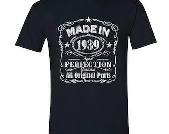 1939 birthday, 1939 shirt, 1939 T-Shirt, 1939, 1939 birthday shirt, Any Year Available