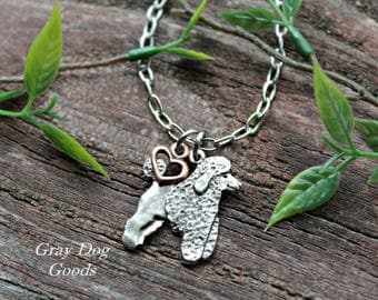 Poodle Necklace, Poodle Jewelry