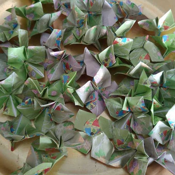 Origami Wedding Flowers: Paper Origami Hydrangea Wedding Flowers 3 D Confetti Table