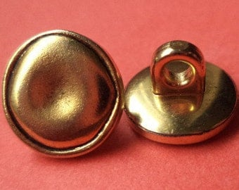11 mm 15 mm (116-157) metal button buttons 8 METAL BUTTONS gold