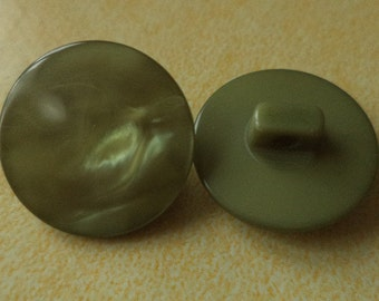 10 buttons 18mm Green (3708) olive green button