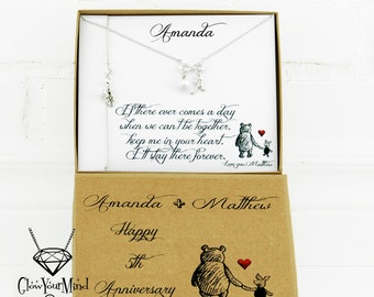 Girlfriend Gift for wife Personalized girlfriend Gift for Girlfriend anniversary Relationship gift Winnie the pooh Girlfriend birthday Love