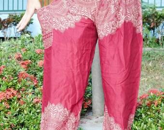Red pants / Yaga clothing / Yaga clothes / flower pants / Flower Shop / Red clothes / Jersey pants