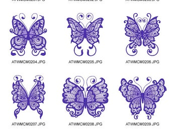 Tribal-Butterflies ( 10 Machine Embroidery Designs from ATW )
