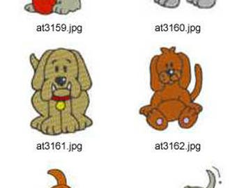 Playfull-Puppies ( 9 Machine Embroidery Designs from ATW ) XYZ17C