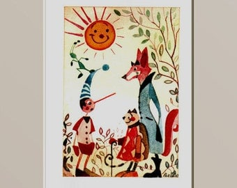 Pinocchio and the sun