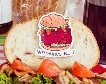 Notorious BLT Magnet - Bacon, 90s, HipHop, Rap, Rapper, Instagram, Urban, Sandwich, funny, Pun Pantry, Unique, Gift, Fridge, Brooklyn, Rap