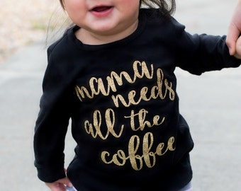 Funny baby girl clothes - Gift for pregnant woman - Gift for new mom - New mom survival kit shirt - Unique baby shower gift-Coffee Bodysuit