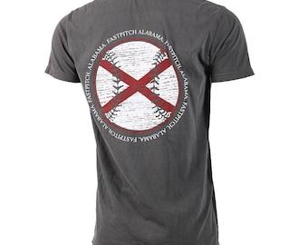 State of Mine: Alabama Fastpitch Short Sleeve T-shirt, Softball Shirts, Softball Gifts, AL Softball - Free Shipping!