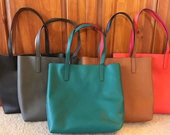 Handbag, Tote, Purse, Tote Handbag, Faux Leather Handbag, Reversible Handbag, Reversible Tote, Reversible Purse, Monogram Blanks