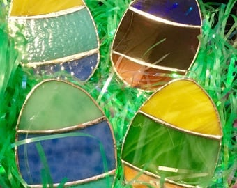 Stained Glass Easter Egg Suncatcher By Sparkle Stained Glass for Easter Holiday, Spring Decor