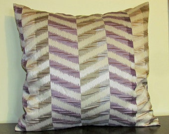 Decorative Pillow Cover, Lilac Mix Pillow, Made in Canada, Cushion Cover, Throw Pillow, Accent Pillow, 18x18 Pillow, Handmade, Gift for Her