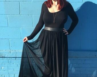 Flowy maxi skirt | Etsy