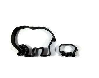 Elephant Cookie Cutter - Elephant Cupcake Topper - Elephant Fondant Cutter - Cookie Cutters