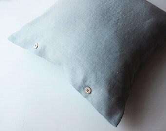 Light Grey Linen Pillow,  Softened Linen Pillow, Light Grey Pillow Covers, Custom Size,  Grey Linen Pillow