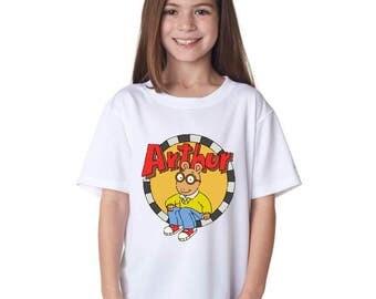 Arthur the Aardvark/Team Vintage USA/Arthur and DW/Marc Brown Shirt/Kids Cartoon T shirt/Arthur and Friends/Arthur and Francine/K6
