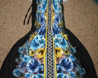 Shirred Dress (7,8)Size Ready to Ship, Summer Dress,  spring dress