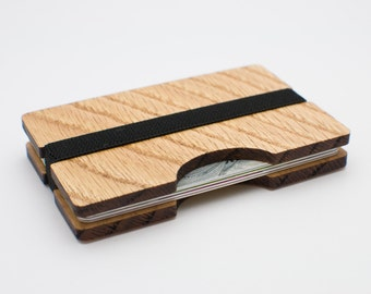 Handmade Wooden Wallet Credit Card Holder Slim Minimalistic Wallet