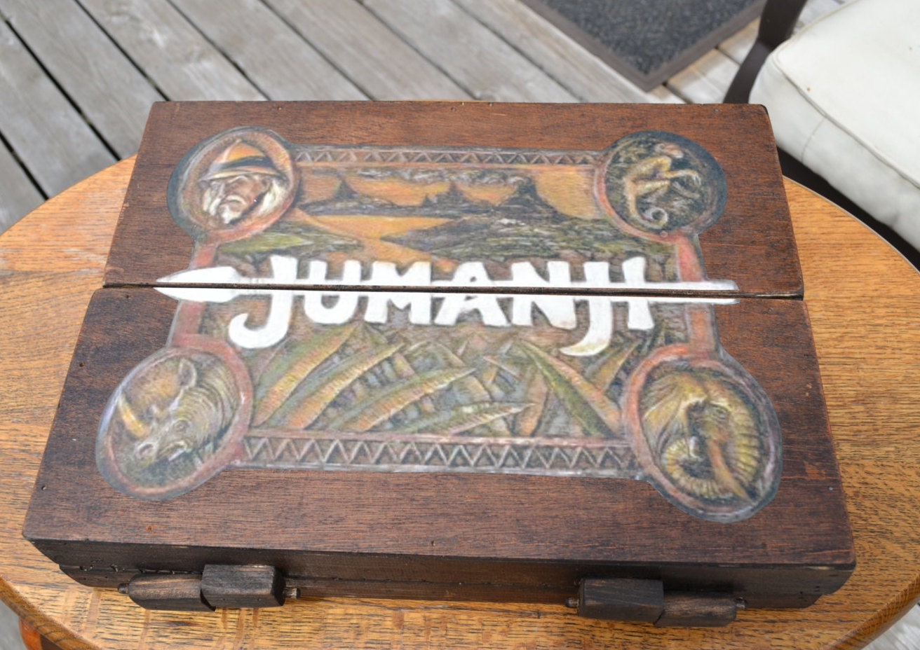 Wood Board Games ~ Jumanji inspired wooden board game collectibles