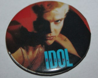 Billy Idol Rebel Yell 1980's Rock Artist pin-back button pin badge