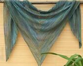 "Knitted shawl ""Asymmetry"" - oversized lace shawl - extra fine merino wool shawl"