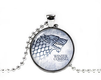 Stark Wolf Necklace House Stark Pendant Game Of Thrones Jewelry Winter is Coming