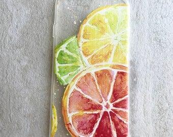Bright Citrus fruit iphone case