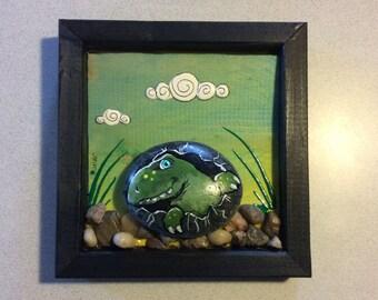 Stone art Dino egg picture
