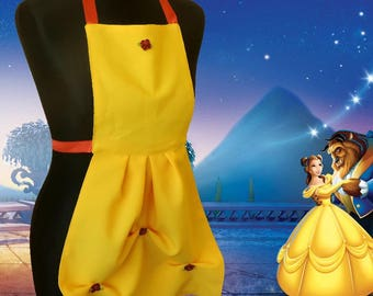 Kids Disney aprons, Belle, beauty and the beast, Children apron, Beauty and the beast