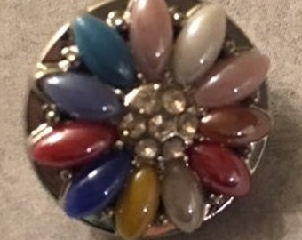 Unique 18mm Snap with Lots of Color for Interchangeable Snap Jewelry - Fits both 18 & 20mm Jewelry