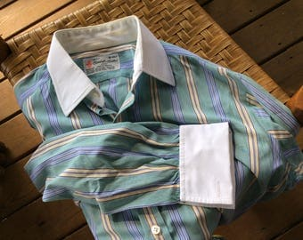 Super High End TURNBULL & ASSER Dress Shirt - 16/41 - Wear It to Your Office or With Your Jeans- small