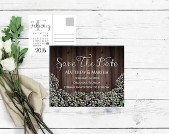 Save The Date Templates Printable- Save The Date Calender- Wedding Announcement- Save The Date Card- Rustic Save The Date- Wedding Printable