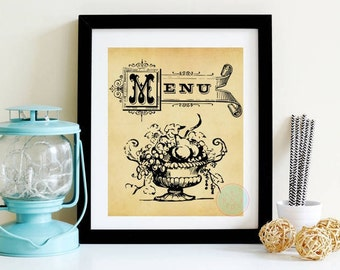 VINTAGE PRINTABLE Kitchen Art Kitchen French Art Paris Kitchen Decor Kitchen  Wall Art Vintage Signs Kitchen