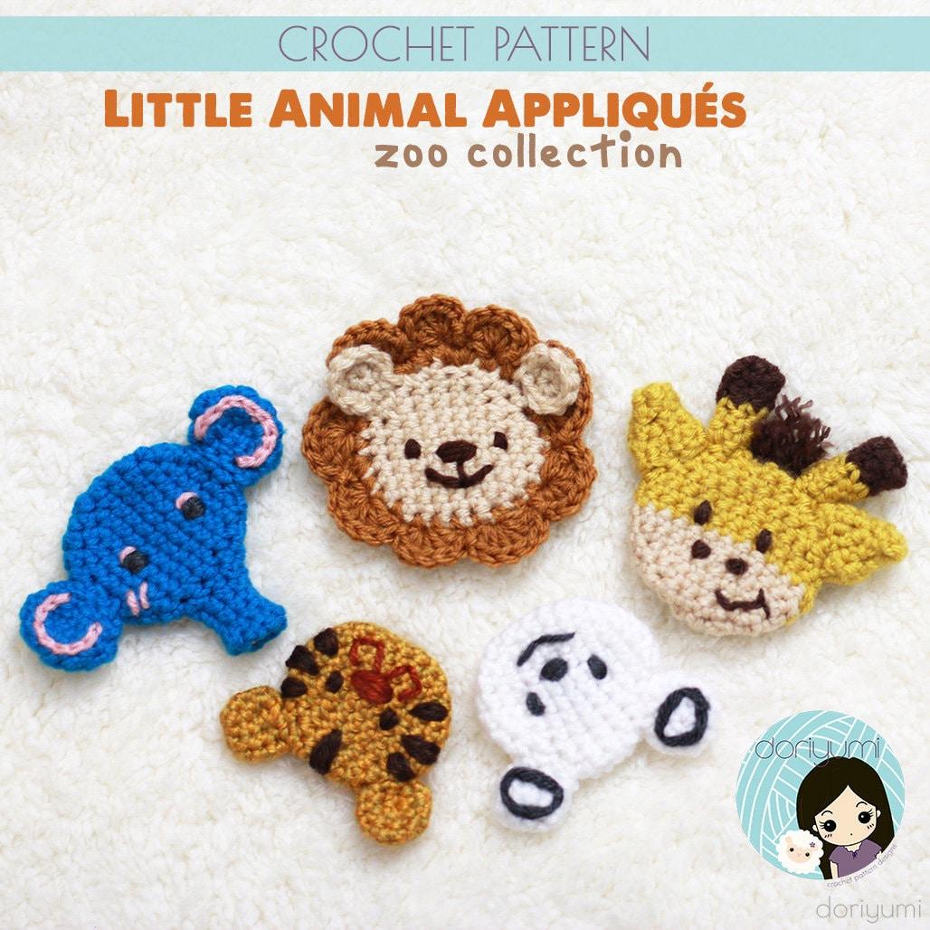 Little Animal Appliqu 233 S Zoo Collection Crochet Pattern
