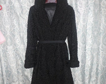 Persian Lamb Fur Coat Size M