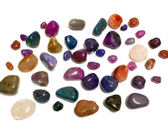 Two Pounds of Brazilian Tumbled Stones - Assorted Mix