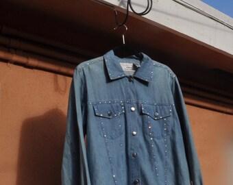 Rhinestone Embellished Denim Jacket