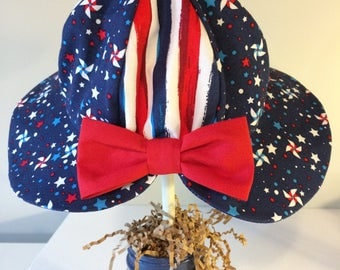 Baby toddler sun hat, baby gift, patriotic hat