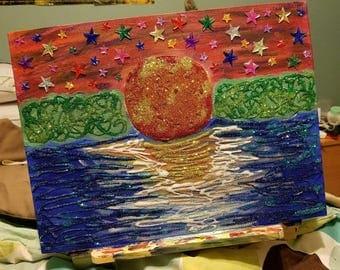 Glitter Sunset